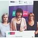 Esquerra-dreta: Neus Bas, Sylvie Estrada i Isabel Lamblin-Burguet, impulsores de Barcelona Wink amb el premi com a finalistes del programa FuTurisme de Barcelona Activa. Foto: Barcelona Wink.