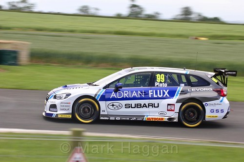 Jason Plato in BTCC action at Croft, June 2017