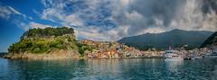 Parga Panorama (Dimitil) Tags: parga epirus greece hellas panorama boats sea ionian ioniansea castle forest sky clouds seascape