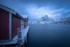 Reine Harbor (mitalpatelphoto) Tags: winter adventure blue cabins clouds earth explore hamnoy indurotripod landscape lofoten longexposure mountains nature nikon norway photography reine snow travel visit water nordland no