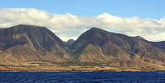 MAUI MOUNTAIN BACKDROP...AS SEEN FROM THE FFERRY BOAT TO LANAI. (vermillion$baby) Tags: maui2016 ferry hawaii lanai landscape mountain flickr