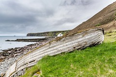 Old boat in North Iceland (Einar Schioth) Tags: oldboat tunglending water sky summer sea day canon clouds cloud coast shore nationalgeographic ngc nature landscape photo picture outdoor iceland ísland tjornes tjörnes einarschioth