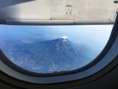 Mt Sakurajima (HIROMOOI) Tags: japan kagoshima sakurajima mountain airplane windowseat