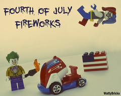 Fourth Of July Fireworks (WattyBricks) Tags: lego dc comics superheroes joker harley quinn harleen quinzel fourth july clown prince princess crime gotham rogues gallery batman
