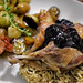 duck confit with blueberry sauce