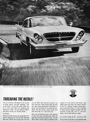 1961 Chrysler 300-G (aldenjewell) Tags: 1961 chrysler 300g ad