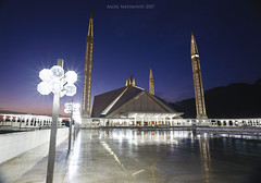Faisal Masjid(Mosque) (Aadilsphotography) Tags: canon masjid mosque architecture photography pakistan fadils studios carl zeiss cp2 18mm full frame wide evening lens night lights punjab