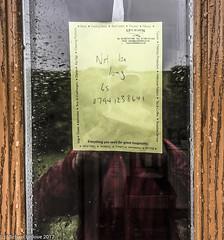 Raining...note from Les....he will not be long.... (mishlove1) Tags: britian cumbria england greatbritian hadrians hadrianswall hadrianswallwalk hike hikehiking hiking northofengland omdem10ii olympus travel uk vacation iphone