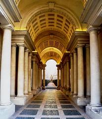 Rome, Palazzo Spada (sisley72) Tags: gallery columns galleria colonne palazzospada roma rome architecture architettura illusion trompeloeil borromini barroque barocco perspective prospettiva arcade statue ngc