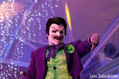 DC Super Heroes and Super Villains Event - Warner Bros. Movie World (lukesciacchitano) Tags: warnerbrosmovieworld batman super heroes parade dc comics joker poisonivy riddler theme park scooby doo superman catwoman scarecrow penguin ride car batmobile gold coast australia