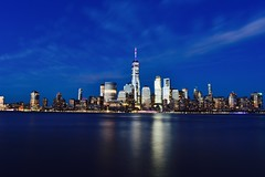 The other side! (Bhargav Kesavan) Tags: dusk evening city citylights lighttrails longexposure photography nikon skyscraper cityscape cityview newjersey newjerseyexchangeplace newyorkcity