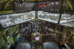 DC-3 Cockpit (snaphappyd) Tags: hdr air space museum mcminnville oregon dc3 vintage airplane aircraft golden age controls flying machine pilet