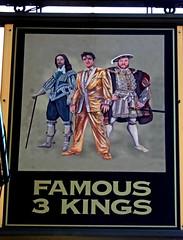 Famous 3 kings (Draopsnai) Tags: famous3kings pub pubsign elvis henryviii kingcharles northendroad kensingtonandchelsea