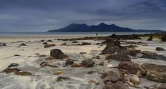 Lone Photographer (judepics) Tags: beach cloudscape egg island knoydart pebbles photographer rocks rum scotland smallisles wilderness