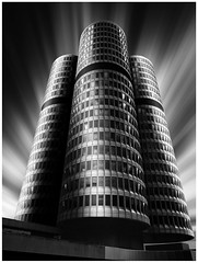 3of4 (denzthomas) Tags: munich münchen bmw bmwvierzylinder fineart langzeitbelichtung architekture bw