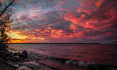 The Red Sea (skram1v) Tags: red sky inclement weather interesting sunset sandybay lakewinnipeg manitoba canada june2017