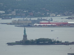 View of Liberty Island from observation deck of Empire State Building, New York City (rylojr1977) Tags: nyc newyorkcity city tourism travel landmark building architecture famous river libertyisland