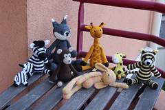 IMG_0305 (korova08) Tags: crochet amigurumi tigre girafe monstre gentil loup singe