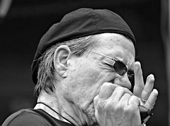 John Stephens of Brethren Backing CeDell Davis at 2017 Juke Joint Festival (forestforthetress) Tags: johnstephens brethren harmonica jukejointfestival band gig stage concert omot nikon bw blackandwhite monochrome man face people blues bluesmusic theblues bluesband musicistimusciens