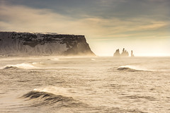 Winter Iceland (Fabio Todeschini ) Tags: iceland islanda magazine vik winter landscape icelandlandscape ocean sea wave rocks snow snowy north day light lights nikon nikonclubit d7200 gnd filter haida lee wind travel holiday life experience love world fabiotode allaperto land ice frozen beach sand amazing beautiful beauty like