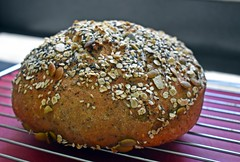 Home Made Artisan Spelt Seed Bread (☁☂It's Raining, It's Pouring☂☁) Tags: bread homemadefromscratch spelt seed kitchen countrycooking cooling