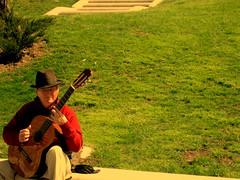 Street musician (elinapoisa) Tags: madrid musician busker spanish