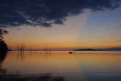 Sunset on Trasimeno Lake (luc.feliziani) Tags: lake sunset trasimeno umbria italy sky colors water trees island lago tramonto acqua filtro naturale natura