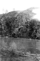96010001 (sabpost) Tags: retro vintage scan film bw ussr ссср пленка сканирование скан негатив россия ретро old rare scans russia russian found photo siberia сибирь soviet stone rock river