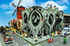 LEGO Casa Baron (Brickbaron) Tags: artnouveau architecture spain antonigaudi moulinrouge cafecorner creator gothic bionicle modular lego