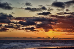 God's Grandeur (Colormaniac too - slowly catching up) Tags: sunset magnificence clouds colorful grandeur beach eveningglow nature seascape pacificocean washingtonstate pacificnorthwest ocean sea topazimpression