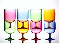 Pastels (Karen_Chappell) Tags: pastel white glass glasses stilllife green pink blue yellow orange stack product summer eight 8 multicoloured colourful colours colour color