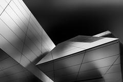 Inverter (Anna Miglia Rework) (Robert_Franz) Tags: architecture architectural architektur modern futuristic abstract reflection geometry blackwhite fineart munich bmwwelt blacksky building exterior design facade lines wideangle