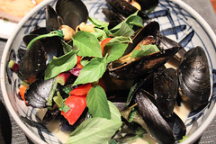Mussels in Light Green Curry (meg williams2009) Tags: unionsquaregreenmarket newyork