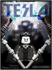 Tesla (LegoKlyph) Tags: lego custom tesla minifigure birthday science electricity power futureist engineer inventor