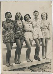 Some Byron Bay young women at the beach c1938 (RTRL) Tags: byronbay surflifesaving surfclub surflifesavingcarnival