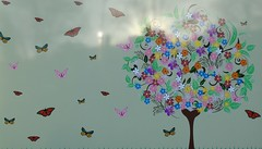 BUTTERFLIES THAT FLUTTER BY (P☆ppy C☆cqué) Tags: painting metal butterflies tree friend friendship friends ap poppy poppycocqué soundtrack poem prose poetry quote quotation heart staywithmyheart sophiezelmani butterfliesthatflutterby irish irishproverb proverb saying flower floral fleur flora stylized art artwork p☆ppyc☆cqué