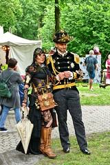 Steampunk #1 (whistlah50) Tags: steampunk steam cloth outdoor victorian era jules verne fantasy man woman retro look panasonic dmcfz1000 fz1000 mechanic style
