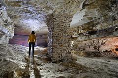 Pilier maçonné (flallier) Tags: carrière souterraine calcaire underground limestone quarry silhouette pilier maçonné consolidation