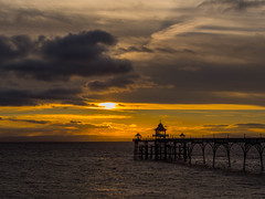 The Sky is Mad (RS400) Tags: clevedon pier sun set cool wow amazing wicked sky clouds southwest water sea golden magic hour somerset uk travel photography moody olympus lens