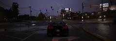 Strike (imkairu) Tags: gta gta5 gtav grand theft auto naturalvision remastered nissan gtr night lightning strike fork rain atmosphere dark silhouette