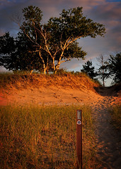 Visions Past - North Country Trail (Michael Koole - Vision Three Images) Tags: michaelkoole nikon d300 tamron2875mmf28 upperpeninsula lucecounty twoheartedriver lakesuperior sunset northcountrytrail visionspast