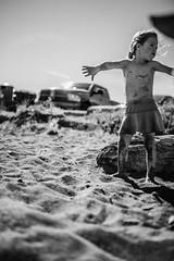 Beach baby (nicoledurkan) Tags: bnw black white bw beach landscape people kids portrait documentary