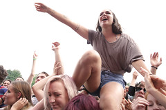 Chicago: Pitchfork Music Festival (kirstiecat) Tags: crowd energy crowdsurfing girls women pitchforkmusicfestival music bands festivals people strangers female