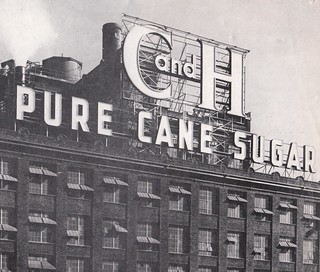 C and H PURE CANE SUGAR - Crockett, Calif. - sign by Electrical Products Corp. - 1956