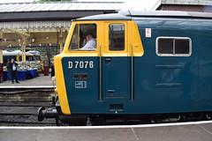 D7076 at Bury, ELR Diesel Gala (colin9007) Tags: railway lancashire east diesel gala bury beyer peacock mekydro hymek maybach class 35 type 3 hydraulic d7076