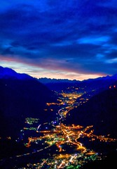 Landscape at sunset (franco.56) Tags: sky colors hdr franco olympus valdaosta clouds mountains landscape