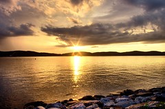 Happy Ending (Lojones13) Tags: serene calm sleepyhollow newyork hudsonriver water sky sunset clouds reflection riverside