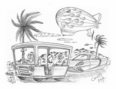 County Fair (rod1691) Tags: bw scifi grey concept custom car retro space hotrod drawing pencil h2 hb original story fantasy funny tale automotive art illistration greyscale moonpies sketch