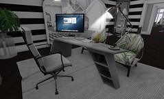 Chic (13) (brinks_lemmon) Tags: decorating interior design modern secondlife chairs desk table flowers bushes interiordesign art designer