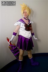 IMG_6927 (Neil Keogh Photography) Tags: anime blonde blouse boots bow cosplay cosplayer dokidokifestivalmanchester2016 dress genderbender genderswap glaves male manga necklace purple red sailoroutfit schooluniform skirt sword top videogames white wig